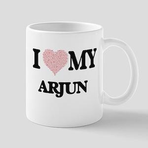 I Love my Arjun (Heart Made from Love my word Mugs