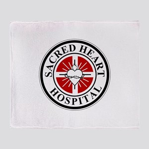 Sacred Heart Hospital Logo Throw Blanket