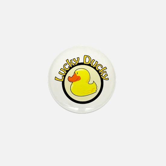Lucky Ducky Mini Button