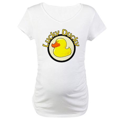 Lucky Ducky Maternity T-Shirt
