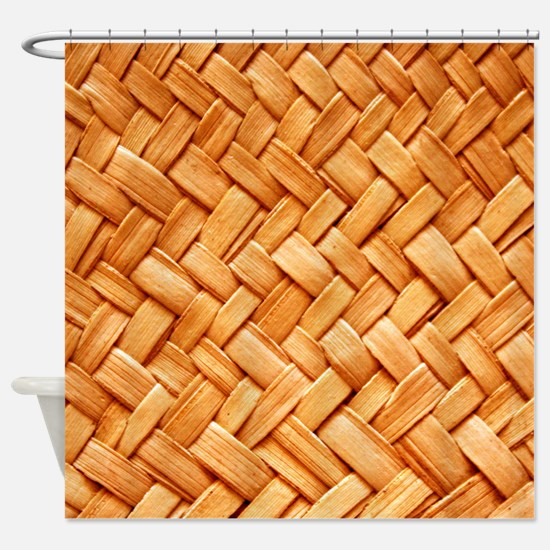 WOVEN STRAW Shower Curtain