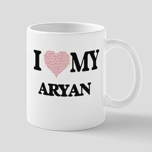 I Love my Aryan (Heart Made from Love my word Mugs