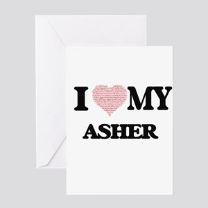 I Love my Asher (Heart Made from Lo Greeting Cards