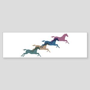 4 Horses Bumper Sticker