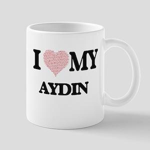I Love my Aydin (Heart Made from Love my word Mugs