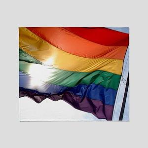 PRIDE FLAG Throw Blanket