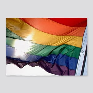 PRIDE FLAG 5'x7'Area Rug
