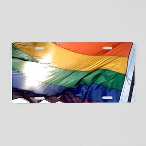 PRIDE FLAG Aluminum License Plate