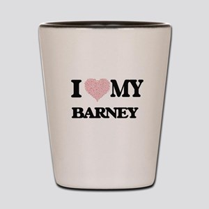 I Love my Barney (Heart Made from Love Shot Glass