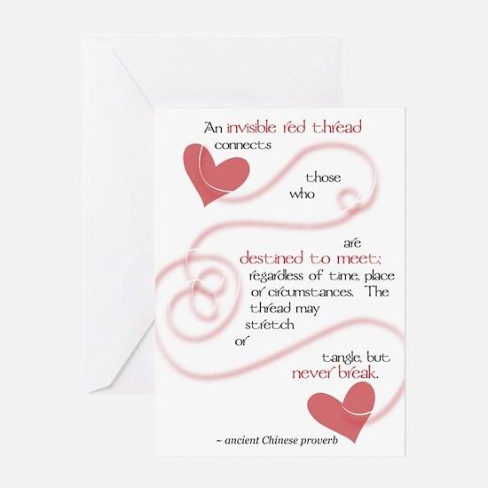 Cute Red thread Greeting Card