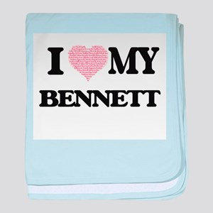 I Love my Bennett (Heart Made from Lo baby blanket
