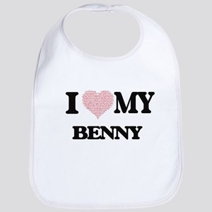 I Love my Benny (Heart Made from Love my words Bib