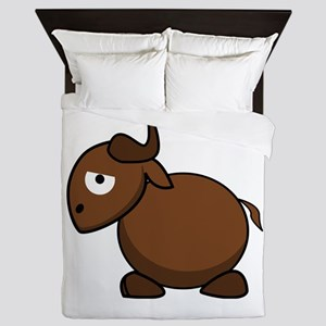 Cartoon Gnu Side Queen Duvet