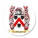 Newport Round Car Magnet