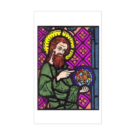 John the Baptist Rectangle Sticker