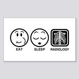 Eat Sleep Radiology Sticker (Rectangle)
