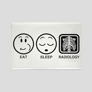 Eat Sleep Radiology Rectangle Magnet