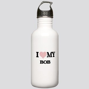 I Love my Bob (Heart M Stainless Water Bottle 1.0L