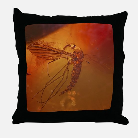 MOSQUITO IN AMBER Throw Pillow