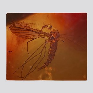 MOSQUITO IN AMBER Throw Blanket