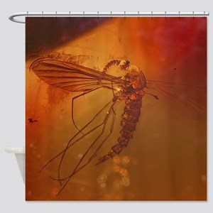 MOSQUITO IN AMBER Shower Curtain
