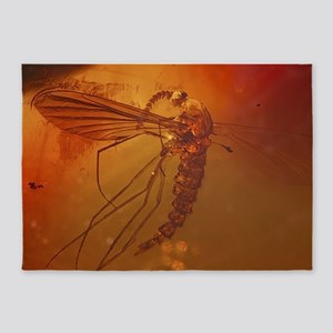 MOSQUITO IN AMBER 5'x7'Area Rug