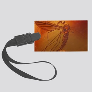 MOSQUITO IN AMBER Large Luggage Tag