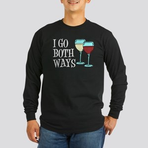 I Go Both Ways Wine Long Sleeve T-Shirt
