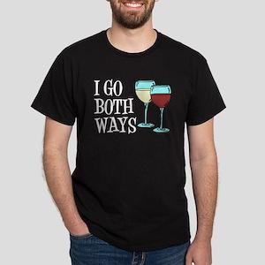 I Go Both Ways Wine T-Shirt