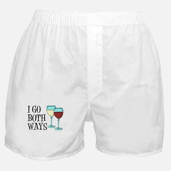 I Go Both Ways Wine Boxer Shorts