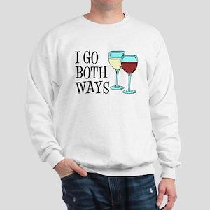 I Go Both Ways Wine Sweatshirt