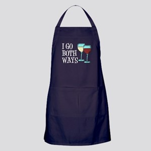 I Go Both Ways Wine Apron (dark)