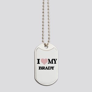 I Love my Brady (Heart Made from Love my Dog Tags