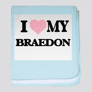 I Love my Braedon (Heart Made from Lo baby blanket