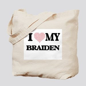 I Love my Braiden (Heart Made from Love m Tote Bag