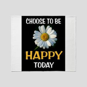 BE HAPPY Throw Blanket