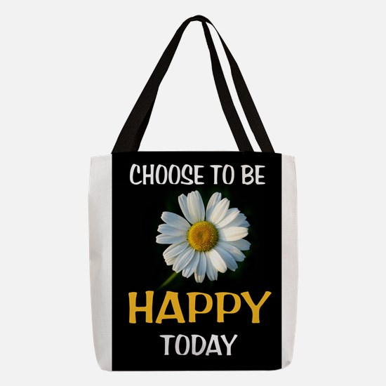 BE HAPPY Polyester Tote Bag