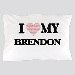 I Love my Brendon (Heart Made from Lov Pillow Case
