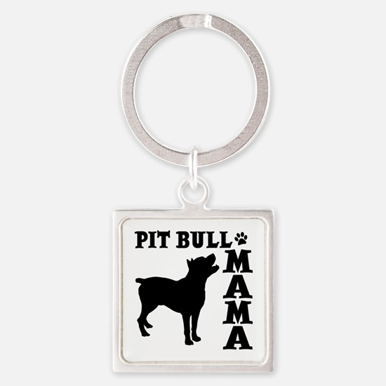 PIT BULL MAMA Square Keychain