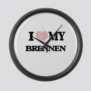 I Love my Brennen (Heart Made fro Large Wall Clock