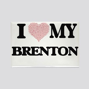 I Love my Brenton (Heart Made from Love my Magnets
