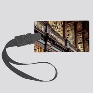 Classic Literary Library Books Large Luggage Tag