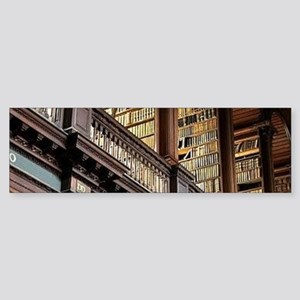 Classic Literary Library Books Bumper Sticker