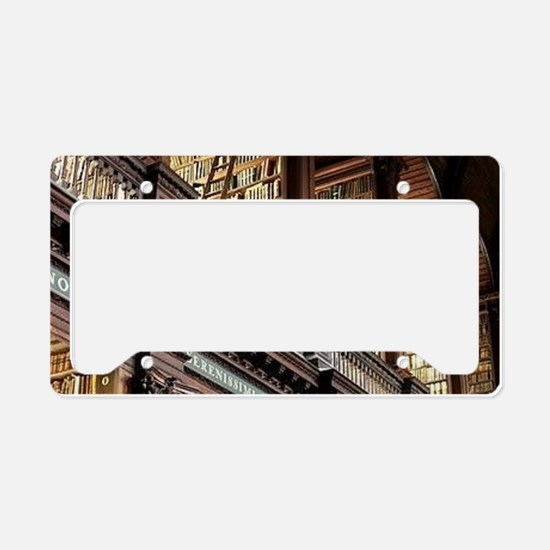 Classic Literary Library Book License Plate Holder