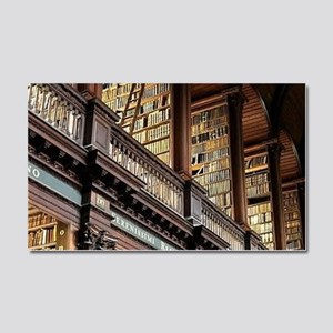 Classic Literary Library Books Car Magnet 20 x 12