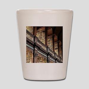 Classic Literary Library Books Shot Glass