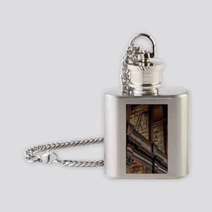 Classic Literary Library Books Flask Necklace
