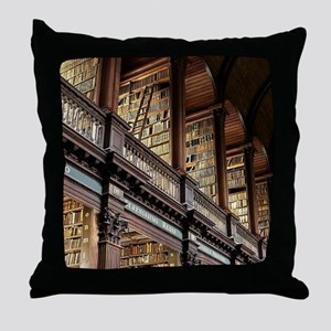 Classic Literary Library Books Throw Pillow