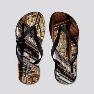 Classic Literary Library Books Flip Flops
