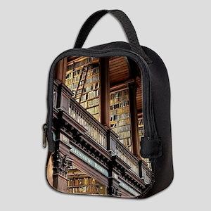 Classic Literary Library Books Neoprene Lunch Bag